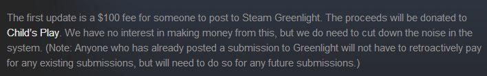 $100 Greenlight submissions