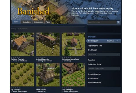 'Banished' Expands Its City-Building Capabilities With Steam Workshop Support