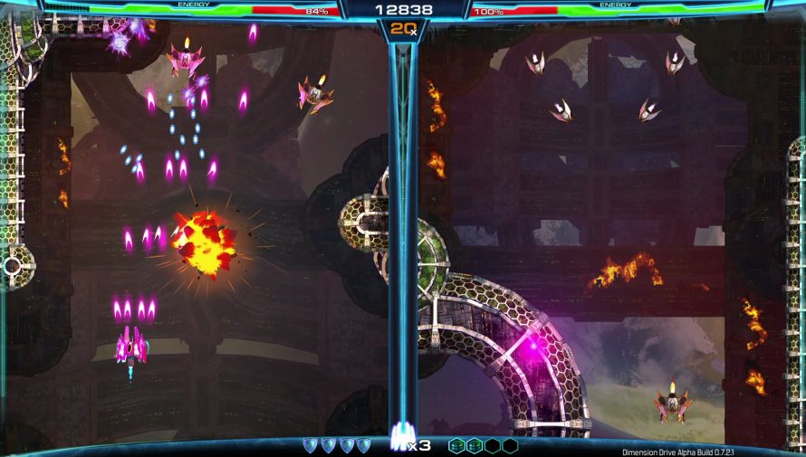 'Dimension Drive' [Early Acccess] Challenges SHMUP Fans With Screen Jumping Shenanigans