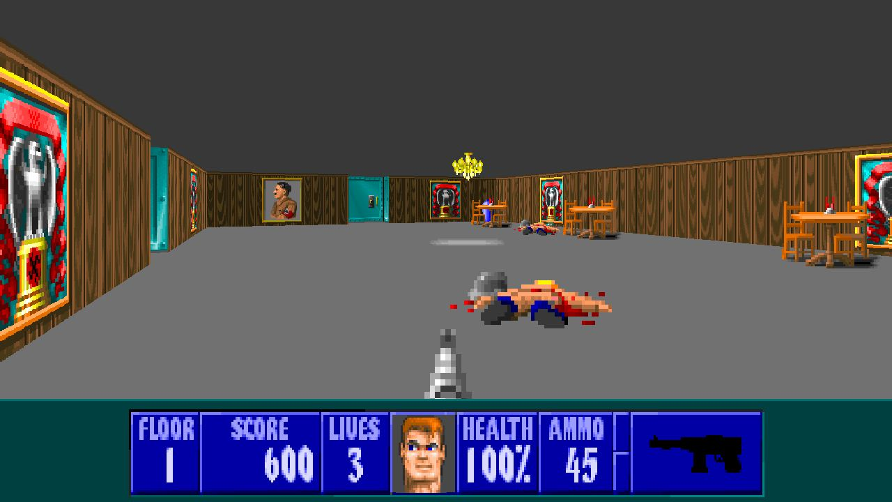 Ecwolf adds a few modern features to wolfenstein 3d for Wolfenstein 3d