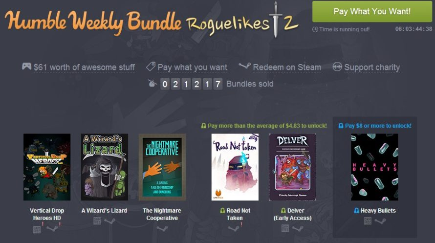 Latest Weekly Bundle From Humble Is Very Roguelikeable