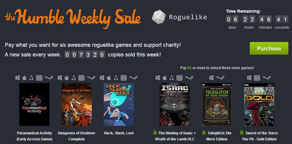 Humble Weekly Roguelike