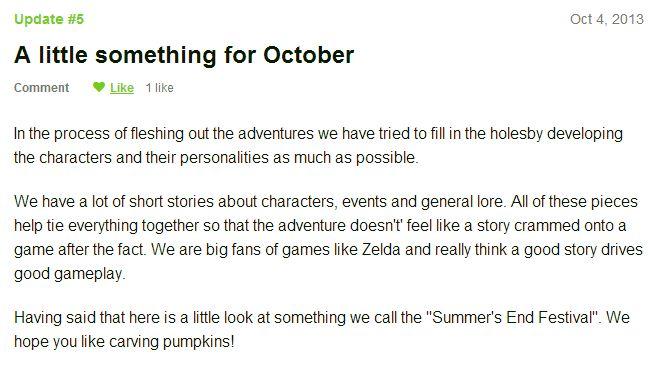 kickstarter updates