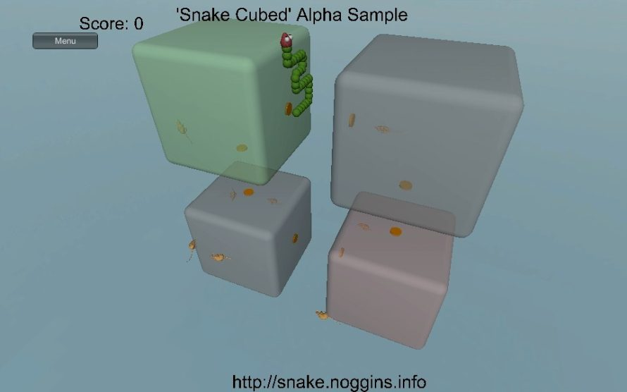 'Snake Cubed' Alpha: Classic Dot-Gobbling Squared With a Third Dimension