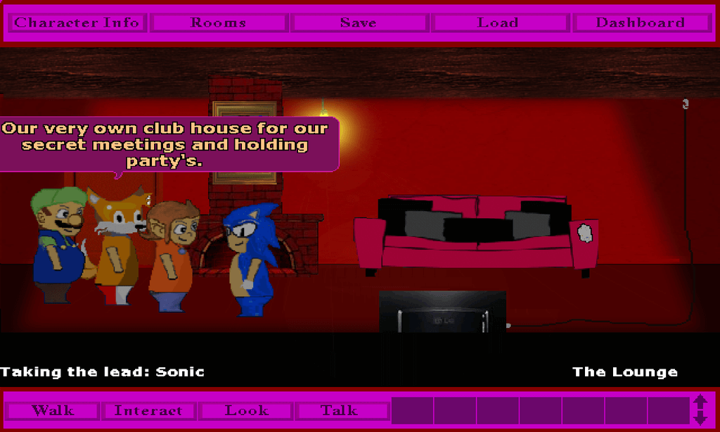 """Sonic and friends in: """"Club-House"""""""