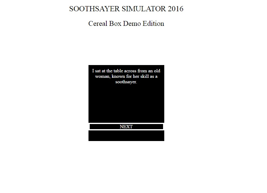 Soothsayer Simulator 2016