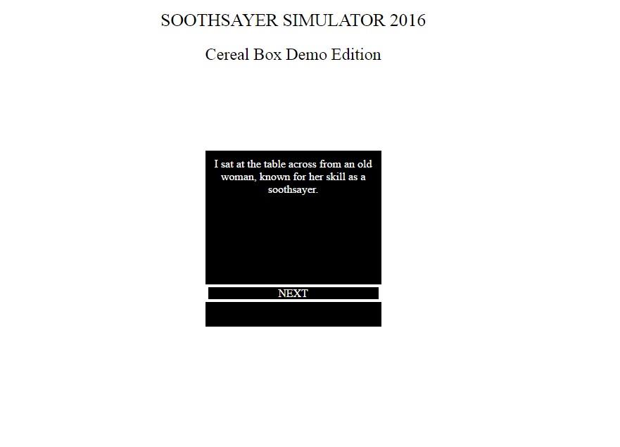 Soothsayer Simulator 2016