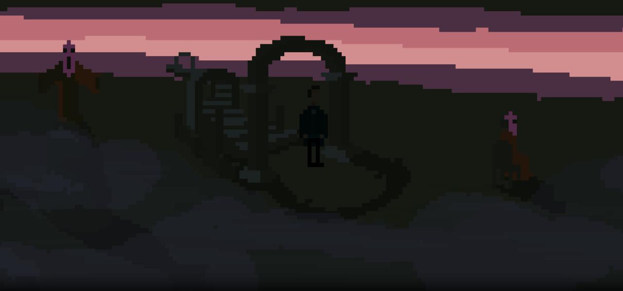 the last door beyond the curtain