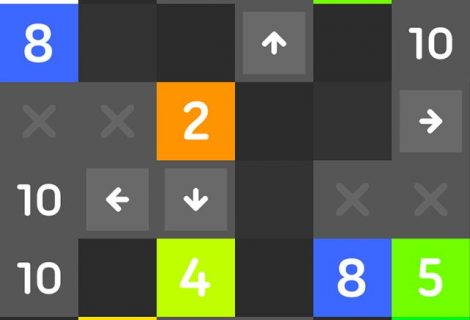 Slide Blocks to Make 10s With Math Puzzles and Wormholes In '10'