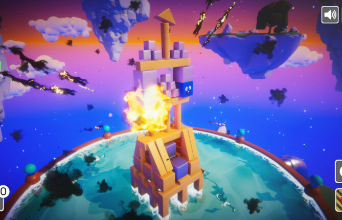 Topple Towers and Send Those Pesky Blues for a Swim in 'Blocksplode'