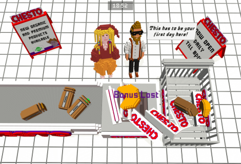 Piss Off Customers as an Underpaid Voxel Cashier In 'CHESTO - At the Checkout'