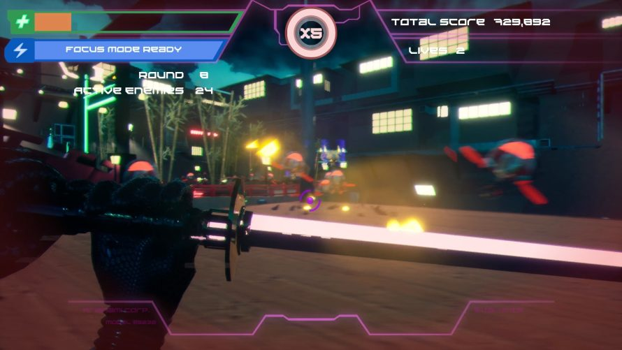 Slow Time as a Neon Ninja in 'Cyberdrome' to Demolish Robots and Climb Leaderboards
