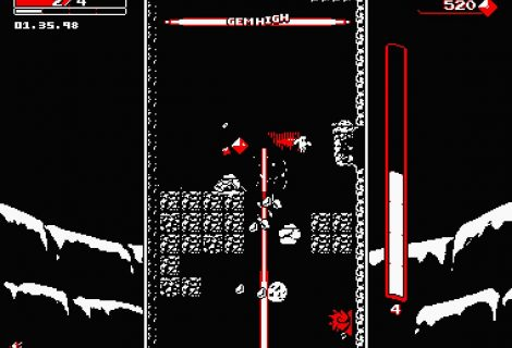 'Downwell' Blends Black, White and Red as it Delves Deeply Towards... Treasure?