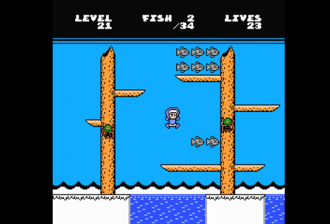 'Eskimo Bob: Starring Alfonzo' Aims to Scratch That Puzzling 8-bit Fish Catching Itch