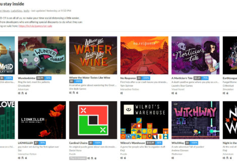 Freebies and Discounts Make Up Aptly Titled 'Games to help you stay inside' Collection
