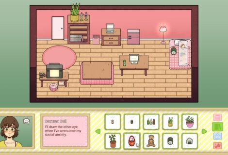 Help a Young Hikikomori Arrange Furnishings in 'Hermit Home Designer'