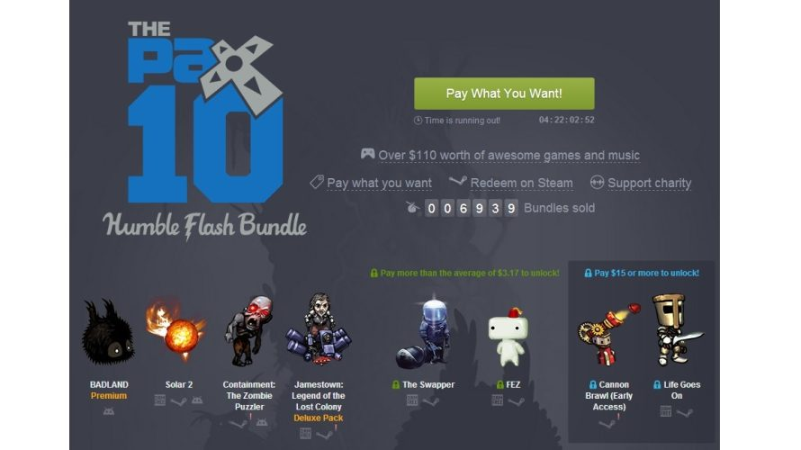 Time For PAX 10 Discounts In the Form of a Humble Flash Bundle