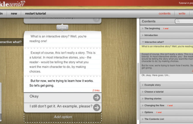 Rejoice, Creators of All Things Interactive Fiction: 'inklewriter' Has Been Brought Back by Way of Open-Source Magic