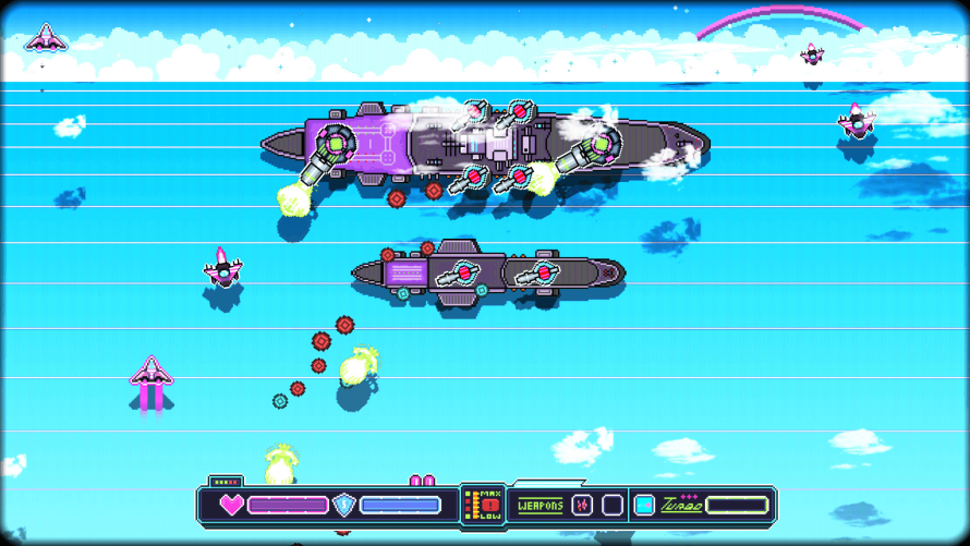 'Nighthaw-X3000′ SHMUPs the 80s With a Rockin' Soundtrack and… Much Neon