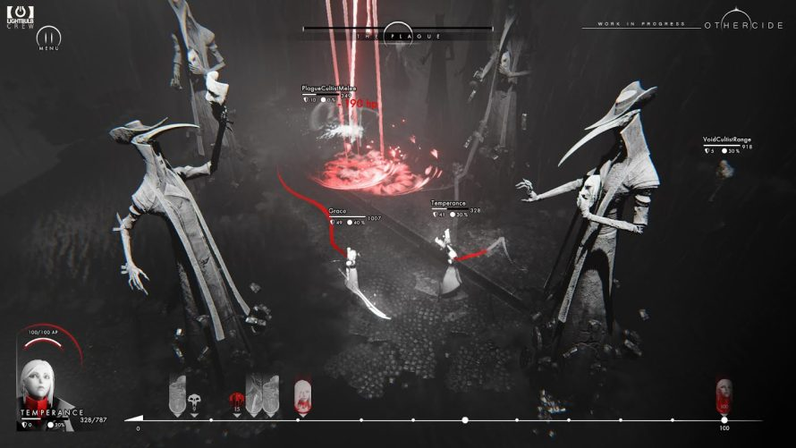 Monochromatic Blood Will be Spilled in 'Othercide' as You Annihilate Nightmarish Creatures One Turn at a Time