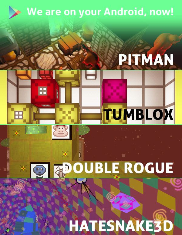 'TRI' Creator Unleashes Android Ports of 'Pitman', 'Tumblox' and More