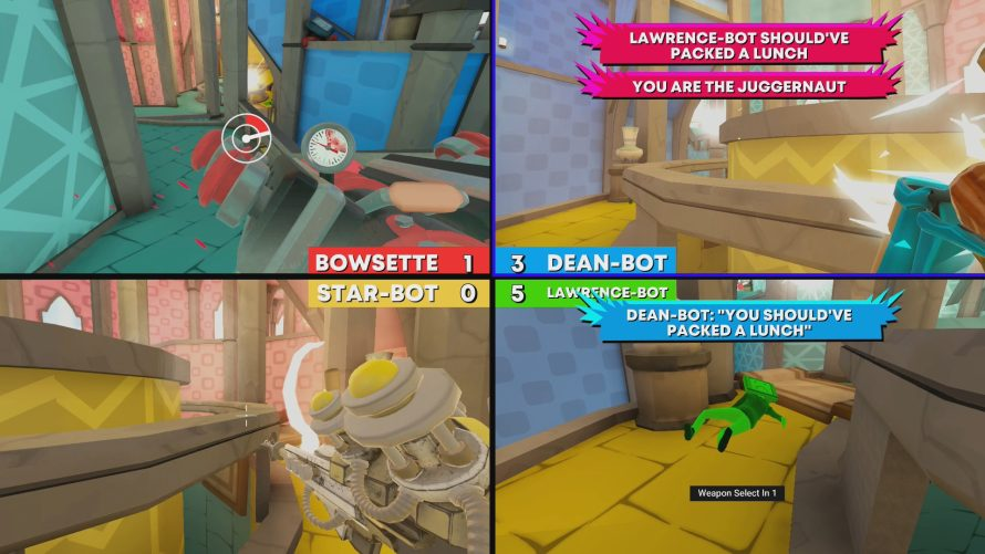 'Screencheat: Unplugged' Overhauls Chaotic Split-Screen Party Shooter for Switch Port
