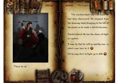 'The Sagas of Fire*Wolf' - Four Gamebooks, One Grand, Digitized Adventure