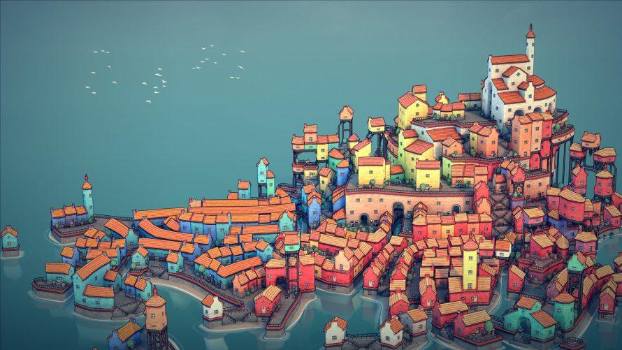 Zen-Inducing Procedural City-Builder Toy 'Townscaper' Awaiting Orders