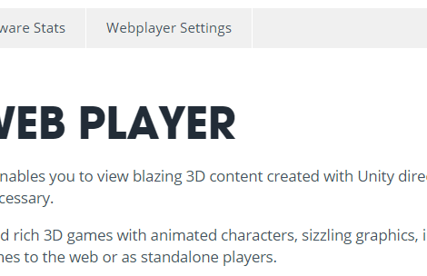 Upcoming Unity 5.4 Marks the End of Web Player Support
